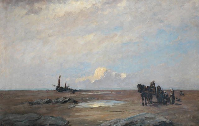 Nathaniel Hone, RHA (Irish, 1831-1917) On the sands of Scheveningen