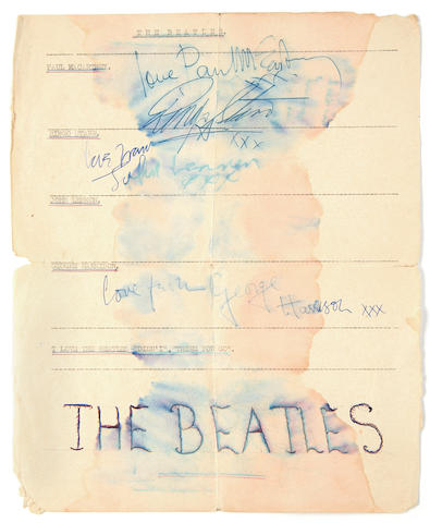The Beatles: A set of autographs, 1963,