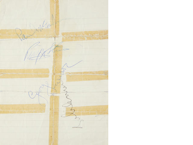 The Beatles: a set of autographs, 1967,