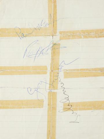 The Beatles: a set of autographs, 1967,