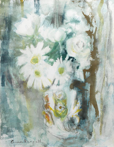 Anne Redpath, OBE RSA ARA LLD ARWS ROI RBA (British, 1895-1965) Still life with daisies 47.5 x 35.2 cm. (18 3/4 x 13 7/8 in.)
