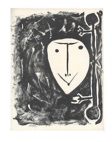 PICASSO (PABLO) GOLL (IVAN) Elegy of Ihpetonga and Masks of Ashes, NUMBER 58 OF 65 COPIES, 1954