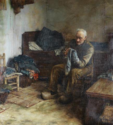 Walter Langley, RI (British, 1852-1922) A Flemish peasant