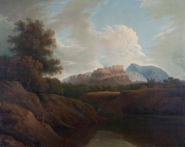 Joseph Farington, R.A. (British, 1747-1821) View of Edinburgh Castle from the Water of Leith 101.6 x 127 cm. (40 x 50 in.)