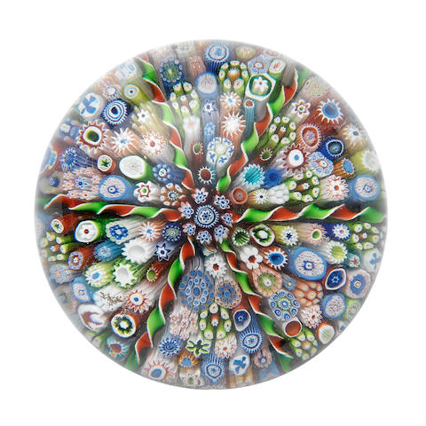A fine St Louis patterned millefiori paperweight, mid 19th century