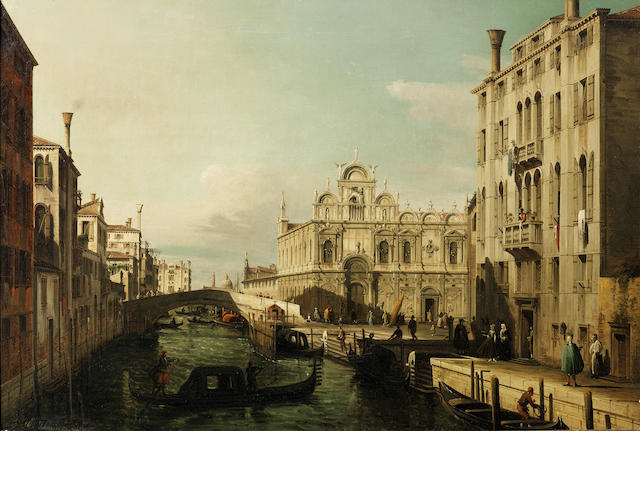 Francesco Zanin (active Venice, 19th Century) The Scuola Grande di San Marco and the Piazza of Santi Giovanni e Paolo, Venice