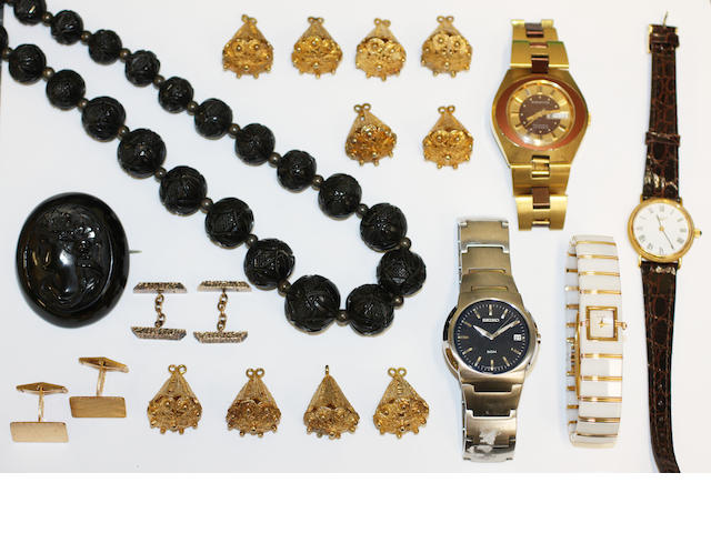 A small collection of jewellery and watches
