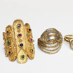 A collection of dress rings