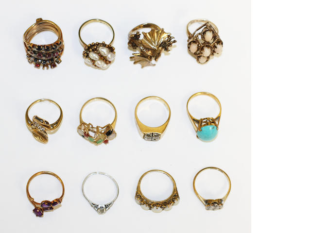 A collection of rings,  (12)