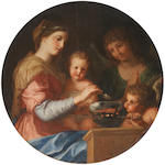 Jacques de Stella (Lyons 1596-1657 Paris) The Madonna and Child 71.5cm. (28 1/8in). diameter
