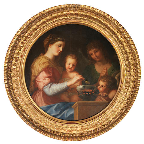 Jacques de Stella (Lyons 1596-1657 Paris) The Madonna and Child 71.5cm. (28 1/8in). diameter