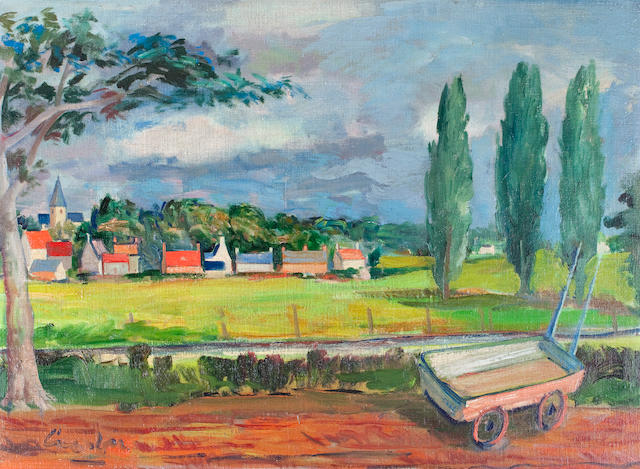 William Crosbie, RSA RGI (British, 1915-1999) Couton (near Cambridge)