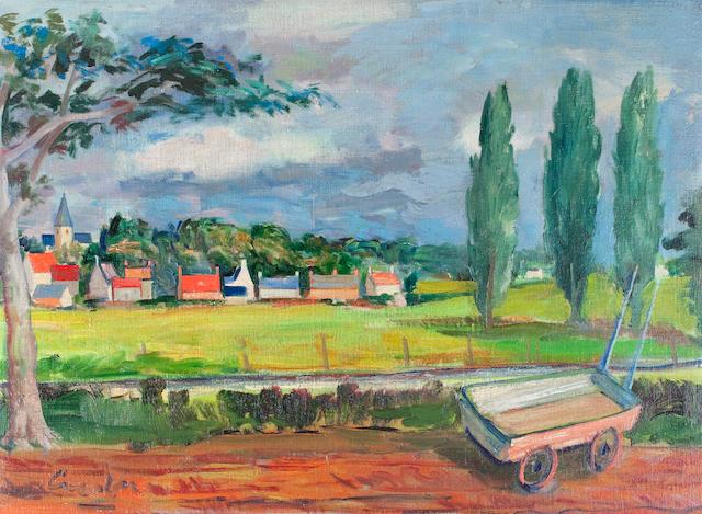 William Crosbie, RSA RGI (British, 1915-1999) Couton (near Cambridge)