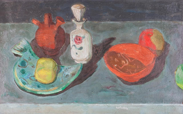 Sir William George Gillies CBE LLD RSA PPRSW RA (British, 1898-1973) Still life 43 x 68 cm. (17 x 26 3/4 in.)