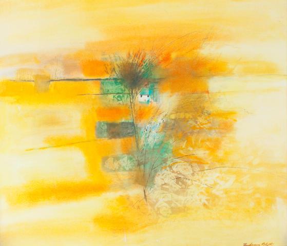 Robert Henderson Blyth, RSA RSW (British, 1919-1970) Yellow landscape 63.5 x 77.5cm (25 x 30 1/2 ins)