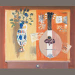 David McClure RSA RSW RGI (British, 1926-1998) Mandolin and Vase 63.5 x 76cm (25 x 30 ins)