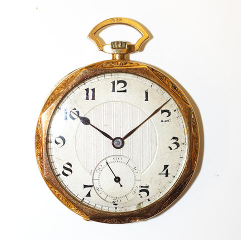 An 18ct gold open face pocket watch,