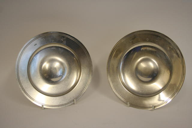 A pair of silver armada dishes by Boodle & Dunthorne, London 1964/5