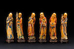 A set of eighteen carved ivory luohans Late Qing dynasty