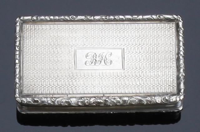 A George III silver snuff box by Francis Clarke, Birmingham 1816