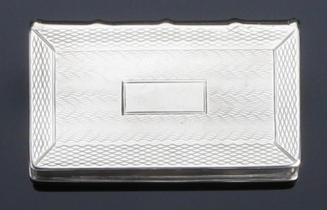 A George III silver snuff box of book shape by Thomas Shaw, Birmingham 1831