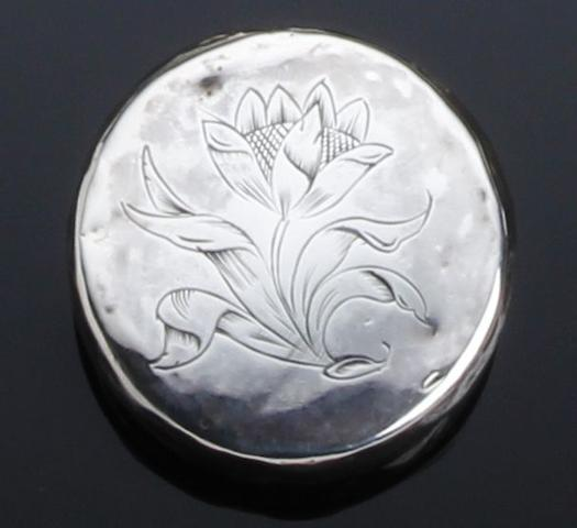 A William and Mary silver spice or pill box possibly by Robert Cooper, London 1689