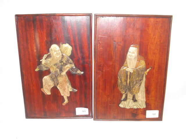 A pair of relief plaques, 19th century,