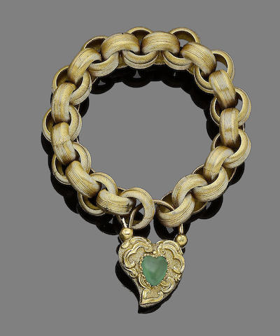 A pair of fancy-link bracelets, (2) (partially illustrated)