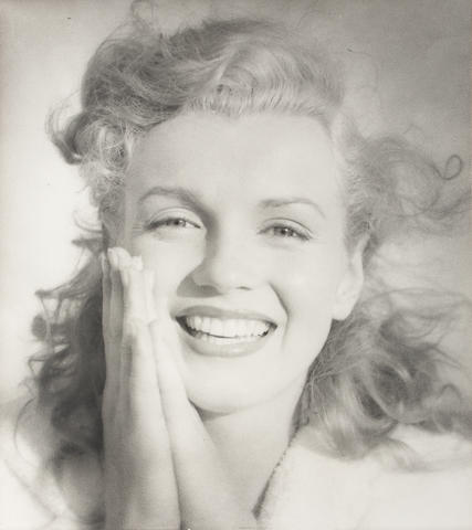 Andre de Dienes (American, 1913-1985): Marilyn Monroe - two black and white photographic prints, 2