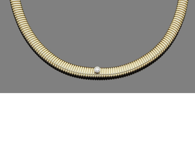 A diamond-set collar necklace, by Paloma Picasso for Tiffany & Co.