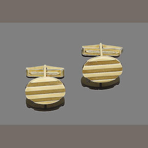 A pair of cufflinks, by Tiffany & Co.,