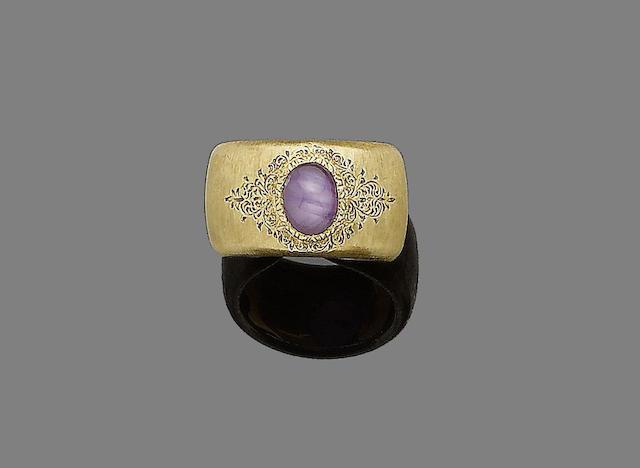 A star ruby ring, by Buccellati