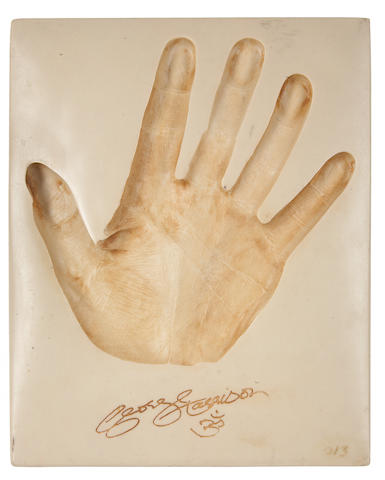 George Harrison: A hand imprint plaque,