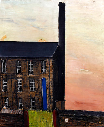 Peter Brook (British, 1927-2009) West Riding mill and chimney
