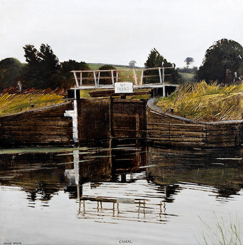 Peter Brook (British, 1927-2009) 'Canal' (after Constable)