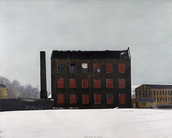 Peter Brook (British, 1927-2009) 'Mill with Red Blinds'