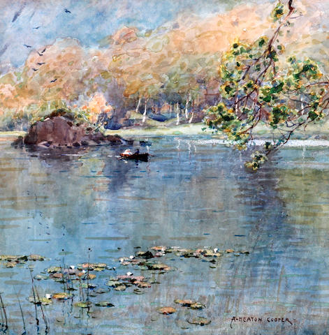 Alfred Heaton Cooper (British, 1864-1929) 'On Rydal Lake'