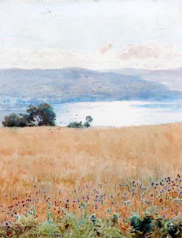 Alfred Heaton Cooper (British, 1864-1929) 'Early Morning, Ripe Oats, Coniston'