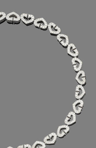 A diamond heart bracelet, by Cartier,