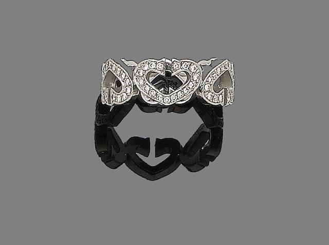 A 'C Heart of Cartier' diamond ring, by Cartier,