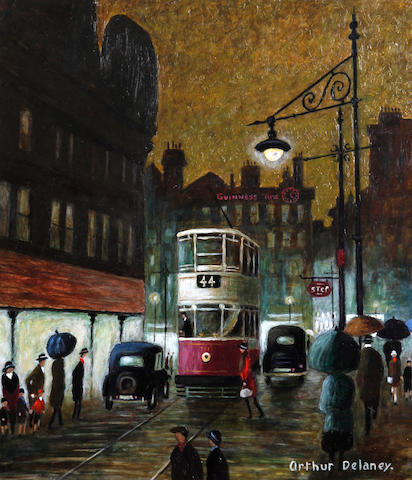Arthur Delaney (British, 1927-1987) 'Rainy Day, Manchester'