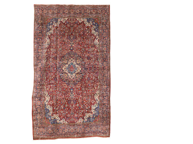 A Kashan carpet, Central Persia, 652cm x 380cm