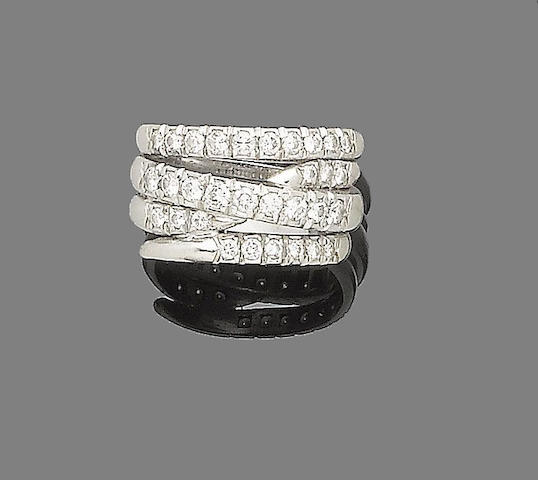 A diamond dress ring, by David Morris,