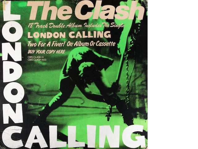 The Clash: A shop promo board for the album 'London Calling', 1979,