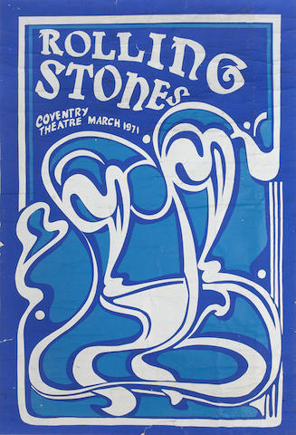 The Rolling Stones: A Rolling Stones concert poster for Coventry Theatre,    March 1971,