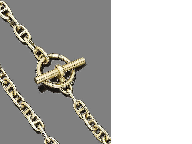 A gold fancy-link bracelet, by Hermès,