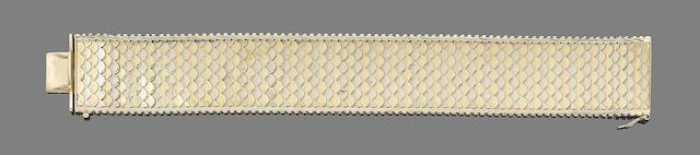 A fancy-link cuff bracelet