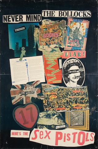 The Sex Pistols: A U.K. Virgin Records promotional poster, 1977,