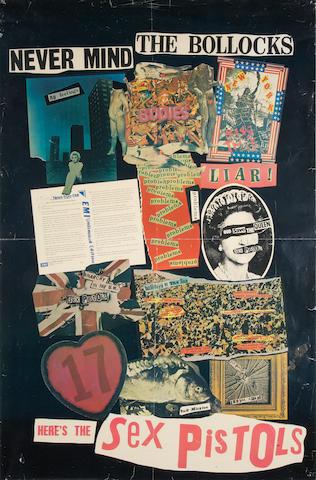 The Sex Pistols: A U.K. Virgin Records promotional poster,