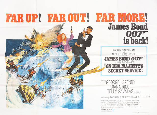 On Her Majesty's Secret Service, Eon/United Artists, 1969,